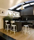 Nicolle Bar Stool - White Glossy #barstool #steel #customised #colours #industrialstyle #madeinfrance #interiordesign