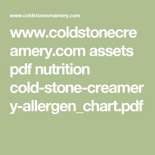 www.coldstonecreamery.com assets pdf nutrition cold-stone-creamery-allergen_chart.pdf