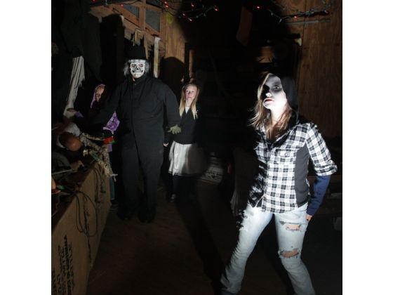 A view inside the 'haunted' Howard's Creek Mill, home of Terror by the Creek, in Lincoln County on Saturday: Photo : Gaston Gazette