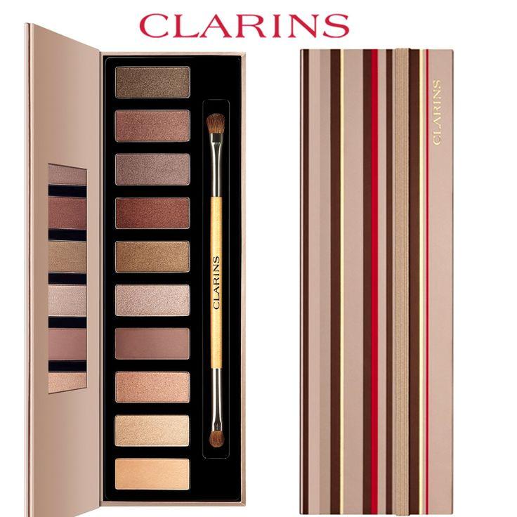 Palette Yeux The Essentiels Clarins Beige, taupe, brun se déclinent pour créer une harmonie de 10 teintes pures et intenses aux finis mats, satinés ou nacrés. Pour un maquillage naturel ou sophistiqué, à vous de les combiner selon vos envies.