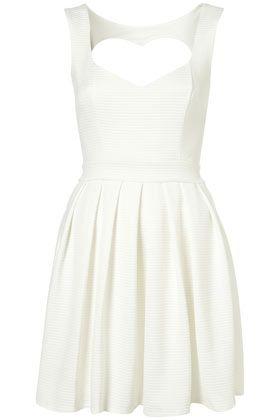 Rib Heart Back Dress - Dresses  - Clothing  - Topshop
