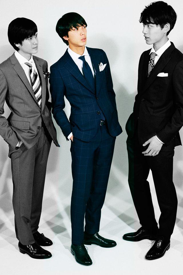 <結婚式 服装 男性 列席者スタイル> 紺のスーツで上品な印象
