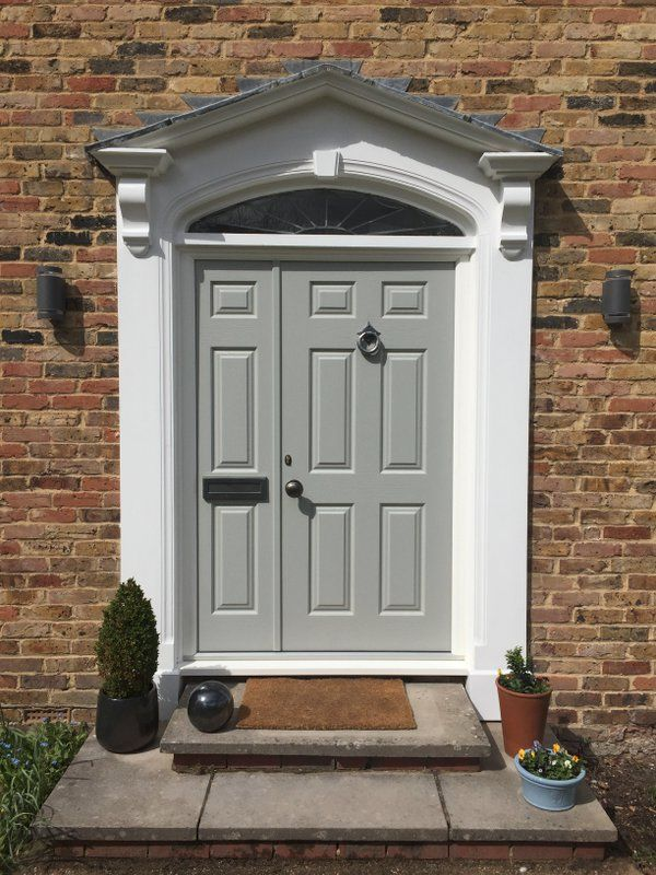 Our popular Mckinley style in Pearl Grey fits perfectly with the traditional surroundings of this home. Design your dream Endurance door here; http://design.endurancedoors.co.uk/