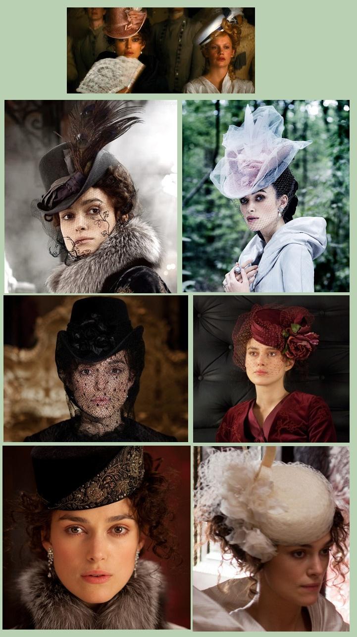 ana karenina's hats.....y la ropa....es maravillosa...