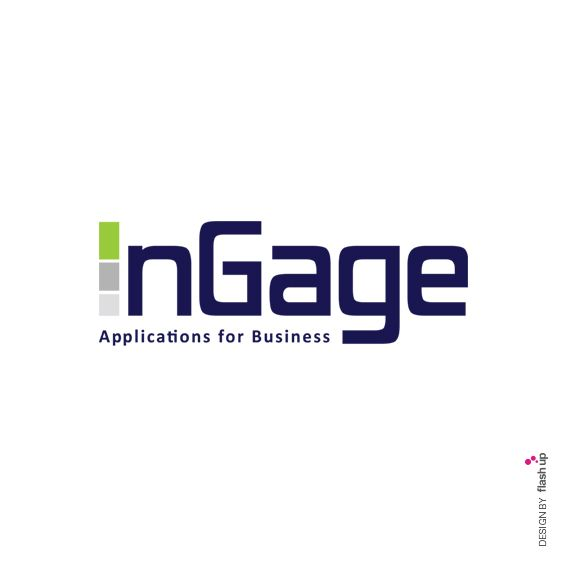 Ingage, Applications for busines, Milano. Logo Design by FLASH UP. Please visit: www.facebook.com/flashupxx #photoshop #flashupdesign #concept #Milano #business #application #rgb #cmyk #pantone #graphicdesign #design #grafica #graphic #logo #logotype #logodesign