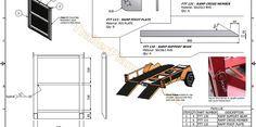 2500kg Flatbed Tilt Trailer - Trailer Plans - Build your own trailer - www.trailerplans.com.au
