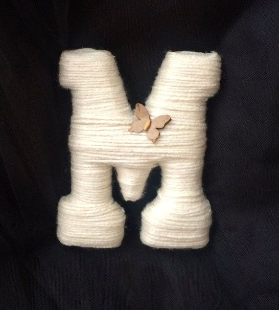 Letter M Ideal for nursery decor. by MariasChicDesigns on Etsy