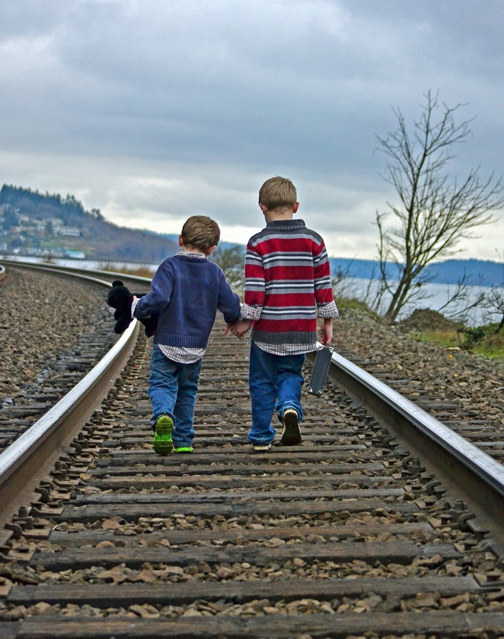 This is apparently a faux paus and not acceptable as the railroads have some big campaign about keeping kids away from tracks.....blah