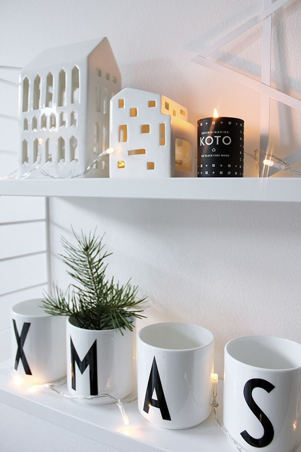 Scandinavian Christmas with the  String Shelf, Design Letters and Kähler