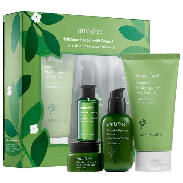 Green Tea Hydrating Heroes Set Innisfree Sephora Dry Skincare Skincare Set Hydrating Toner