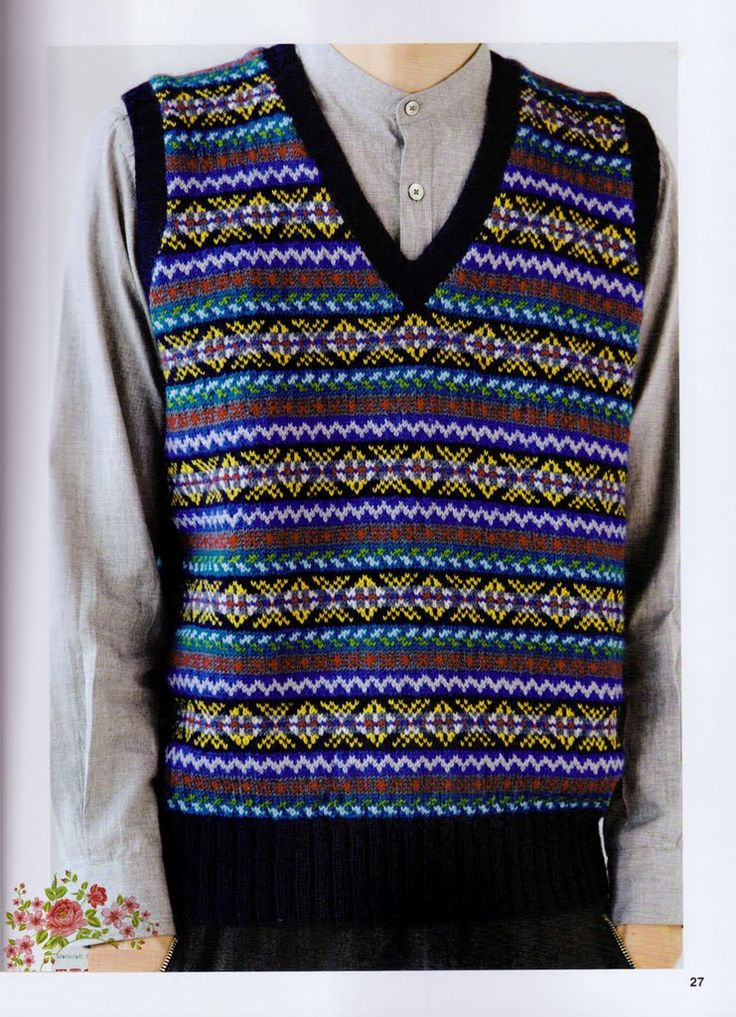 263 best tricots fair isle fair isle knitting images on Pinterest ...