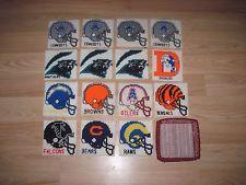 Football Helmet Cross Stitch Coasters/Dallas Cowboys/Rams/Panthers/Bears/Broncos
