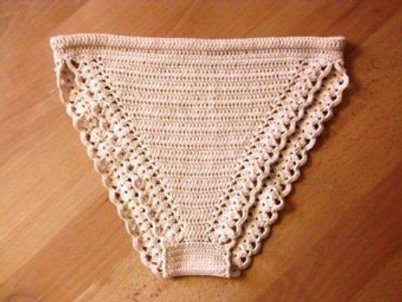 ab20898d3 2 lingerie patterns PDF - SET of Crochet panties and thongs underwear  underpants lacy cotton