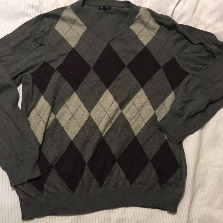 Croft Barrow Mens Argyle Sweater Sz XXL Long Sleeve Cotton Blend (10) | Clothing, Shoes & Accessories, Men's Clothing, Sweaters | eBay!