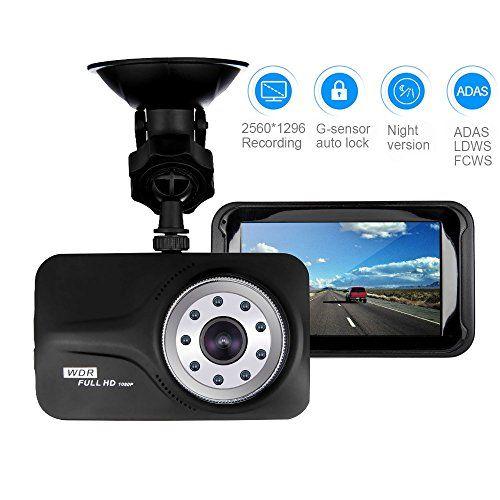 Denicer Car Dash Cam, 3 0' LCD Full HD 1080p/720p Dashboard