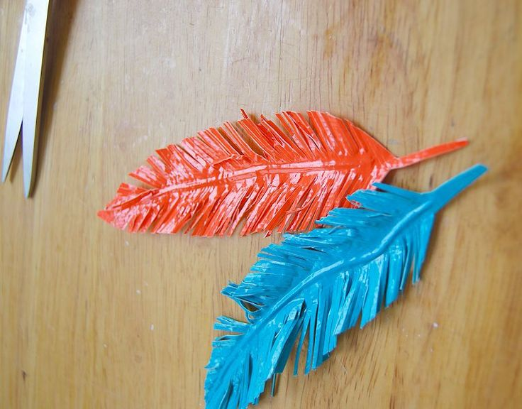 Duct Tape Feathers - CreativeMeInspiredYou.com