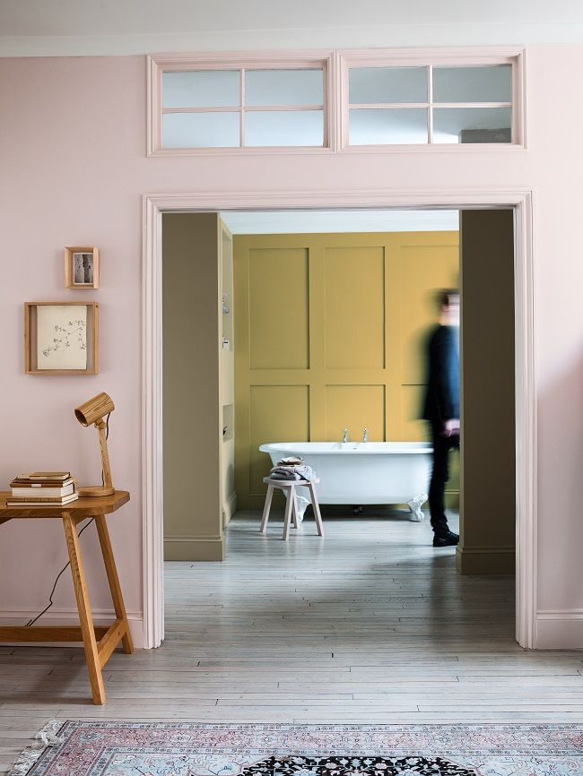 dulux colour charts, cherished gold, connecting rooms, pink is soft cinnebar 5