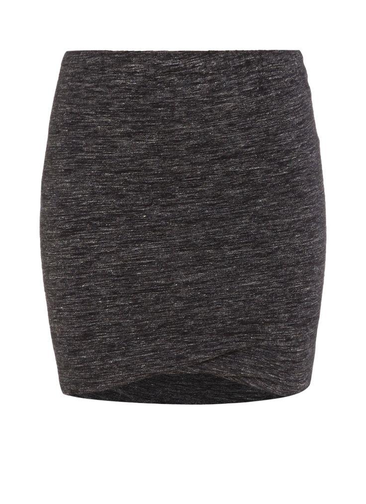 Isabel Marant Etoile Wonki jersey rok met plooidetails • de Bijenkorf €130,-