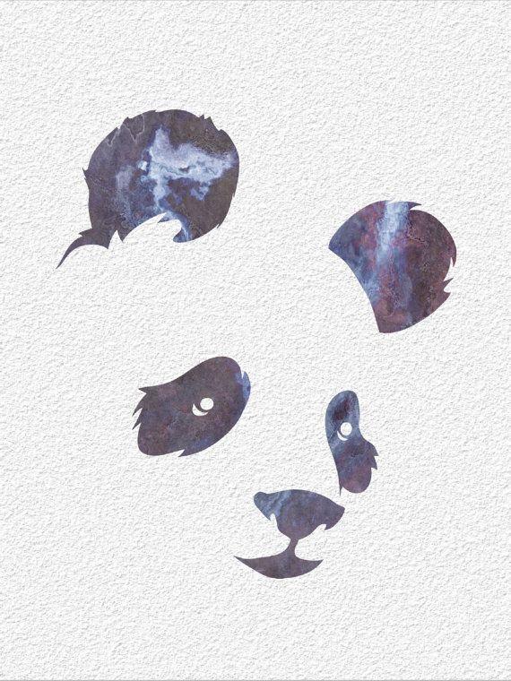 PANDA  Archival Watercolor Art Print  5 x 7 by ImageDeSignStudio, $15.00