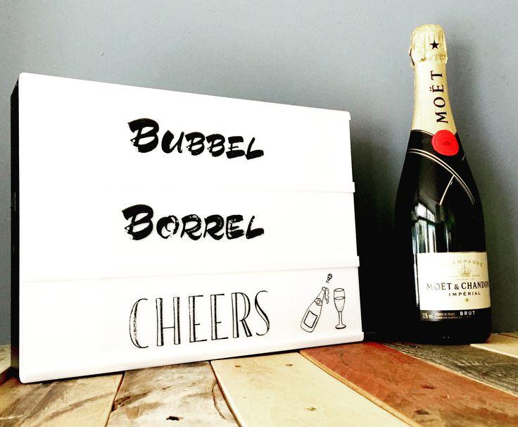 Borrel bubbel cheers #lightbox #cheers #wonen #living #lightboxbymarijs