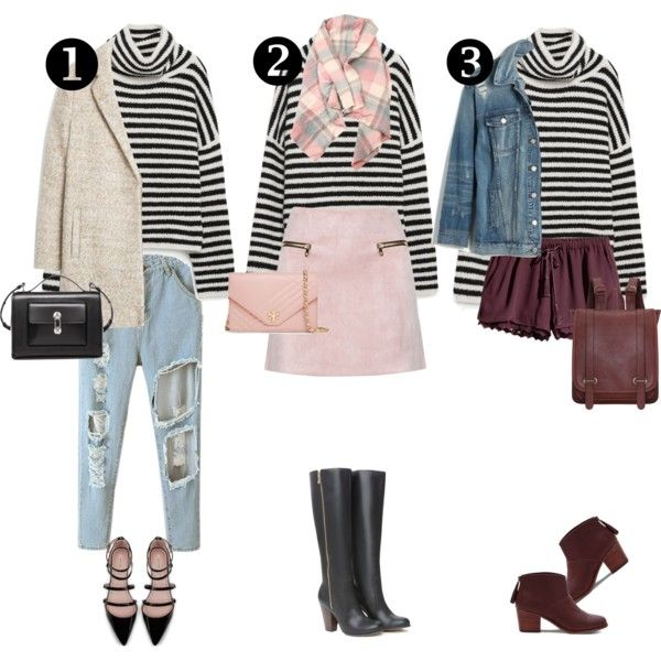 A fashion look from November 2015 by tvdsarahmichele featuring Madewell, MANGO, TOMS, Tory Burch, Zara, H&M, Balenciaga and Bebe