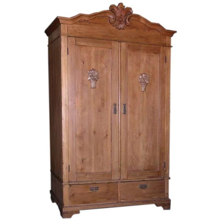 Popular Antique Armoire with Carved Details