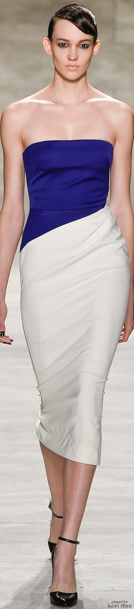 Bibhu Mohapatra Fall 2015 RTW women fashion outfit clothing style apparel @roressclothes closet ideas