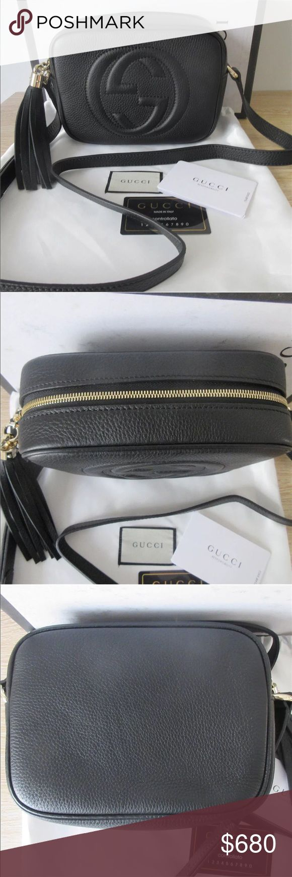 Gucci Soho Disco Black Crossbody Bag 100% Authentic 🛍 We are a very negotiable service 🛍 We provide overnight shipping and express shipping 🛍 Our transactions are made through third party applications 🛍 If you are interested in buying this product please contact us via 646-431-6521 🛍 Gucci Bags Crossbody Bags