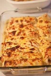 Chicken and Cheese Enchiladas.