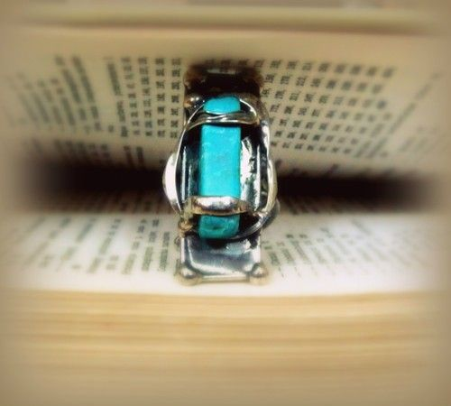 http://megasilver.pl/Pierscionek-p303 #ring #metalwork #handmade #blue #turquoise #stone #jewelry #jewellery