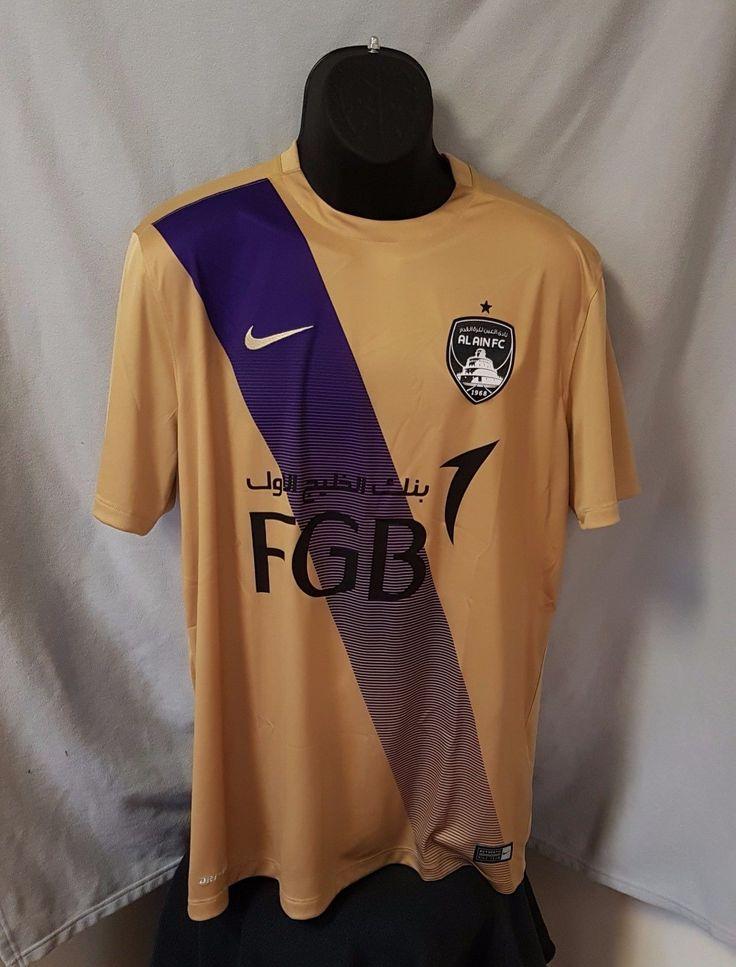 Al Ain FC 2016/17 Nike Authentic Away Jersey (Gold/Purple) Football Soccer