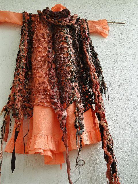 Mizzie Morawez' freeform knitting