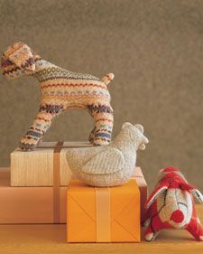 cute stuffed animals from old felted sweaters