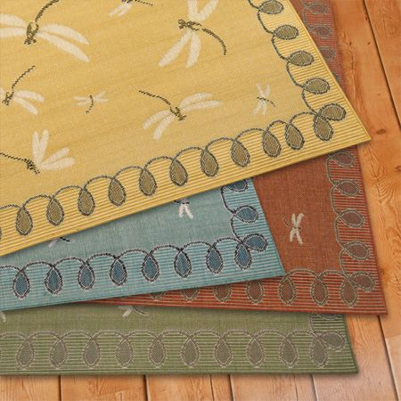 Outdoor Dragonfly Rug (yellow) | Thos. Baker