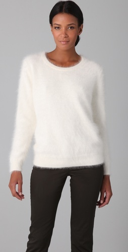 Theory angora sweater