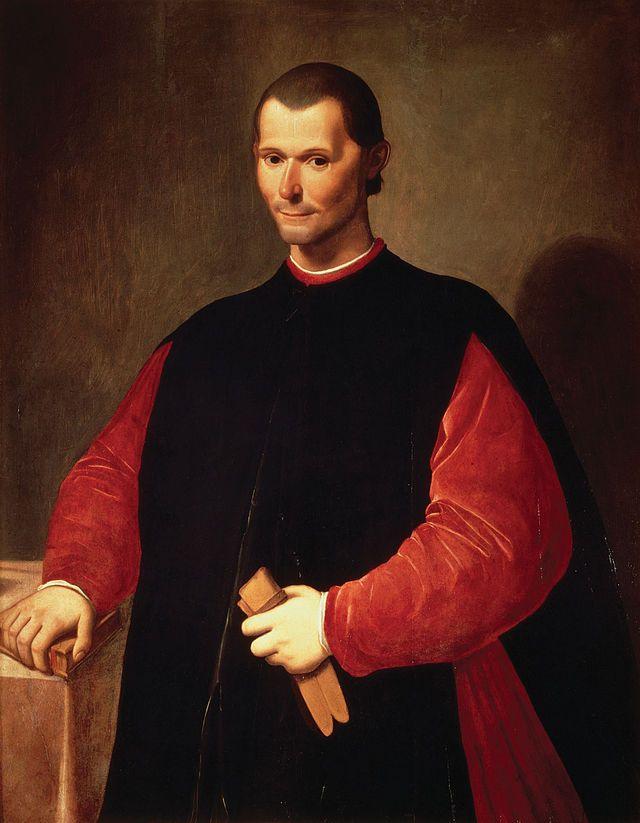 """""""Retrato de Nicolau Maquiavel"""".      (Niccolò di Bernardo dei Machiavelli).       (by Santi di Tito).  Palazzo Vecchio."""