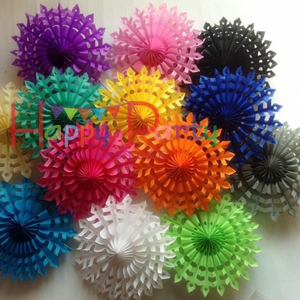 "Free Shipping 20pcs/Lot 8\""(20cm) Snowflake Paper Fan Wholesale/Retai Tissue…"