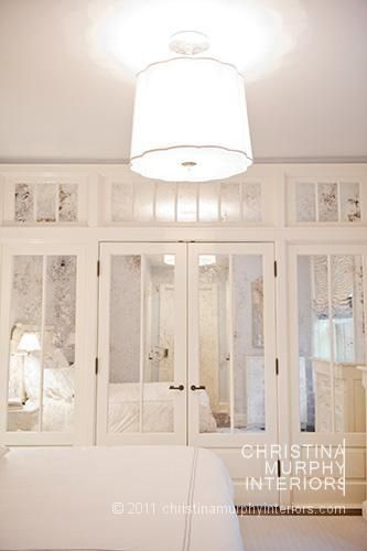 antiqued mirror closet doors, christina murphy interiors