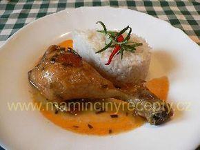 Kuře dušené na rozmarýnu