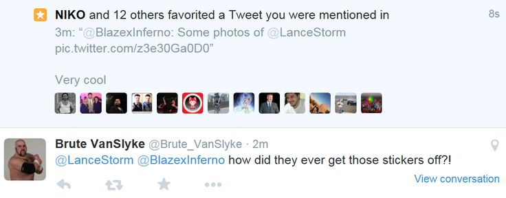 I forgot to copy the original tweet but yeah, Lance Storm is pretty awesome.