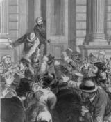 Financial Panics of the 19th Century: Panic of 1873 Depicted in Magazine Illustration/Library of Congress