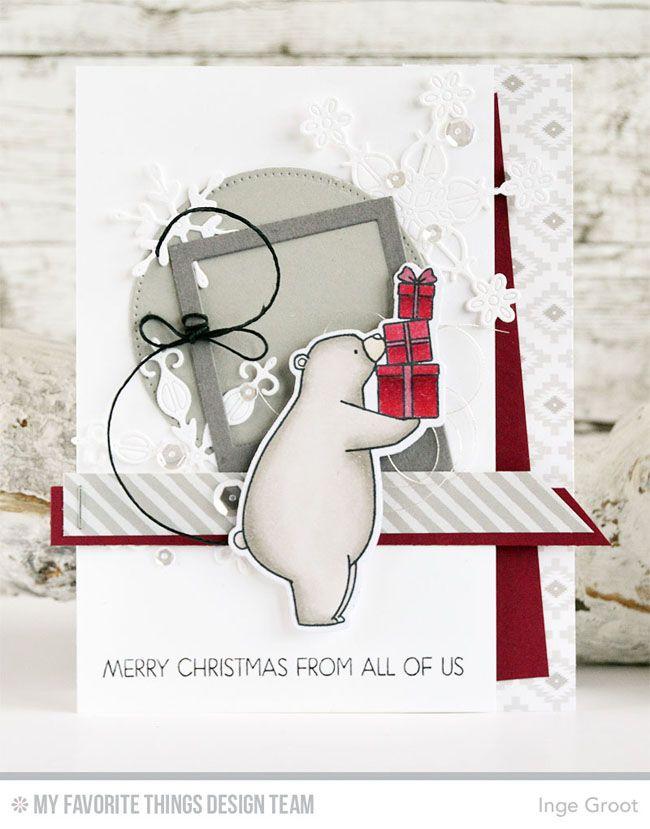 Birthday Bears Stamp Set and Die-namics, Merry Everything Stamp Set, Stylish Snowflakes Die-namics, Precious Polaroids Die-namics - Inge Groot  #mftstamps