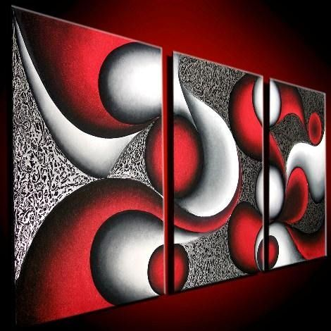 cuadros al óleo trípticos abstractos lbf