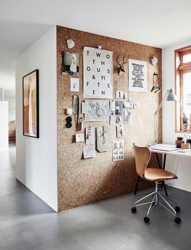 Le mur en liège, la parfaite cimaise pour un mood board éphémère