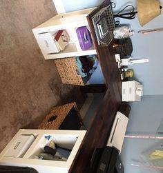 Office Makeover – DIY L-Shaped Desk