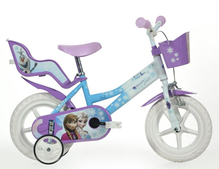 Vélo enfant LA REINE DES NEIGES - 12 pouces - Zoom