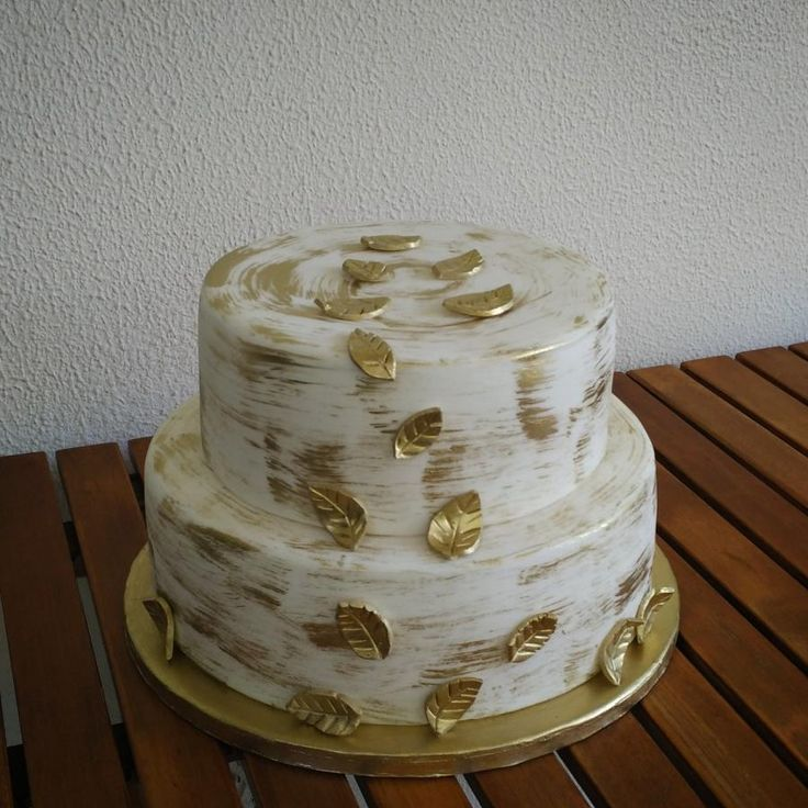 Golden leaves - Cake by nef_cake_deco