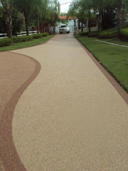 pebble driveway   Epoxy Pebble Driveway http://www.toddroseconcrete.com/epoxy-flooring-2