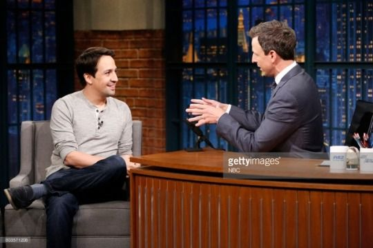 Lin on Late Night w/Seth Meyers