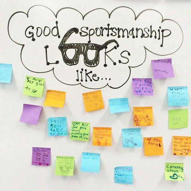 Good Sportsmanship-white board messages